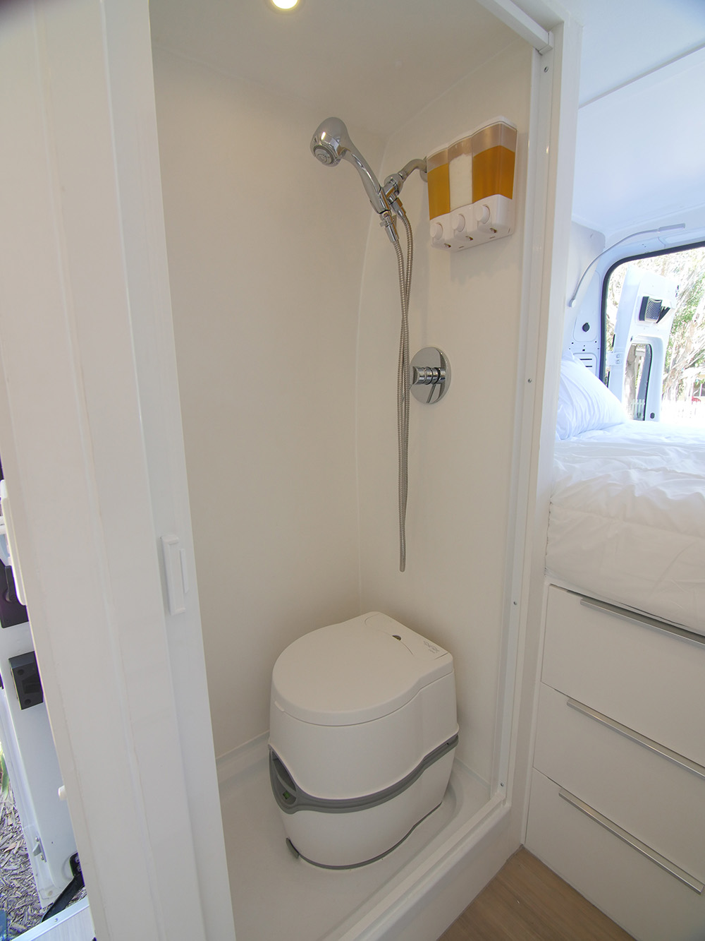 Building a Wet Bath and Shower into Promaster DIY Camper Van
