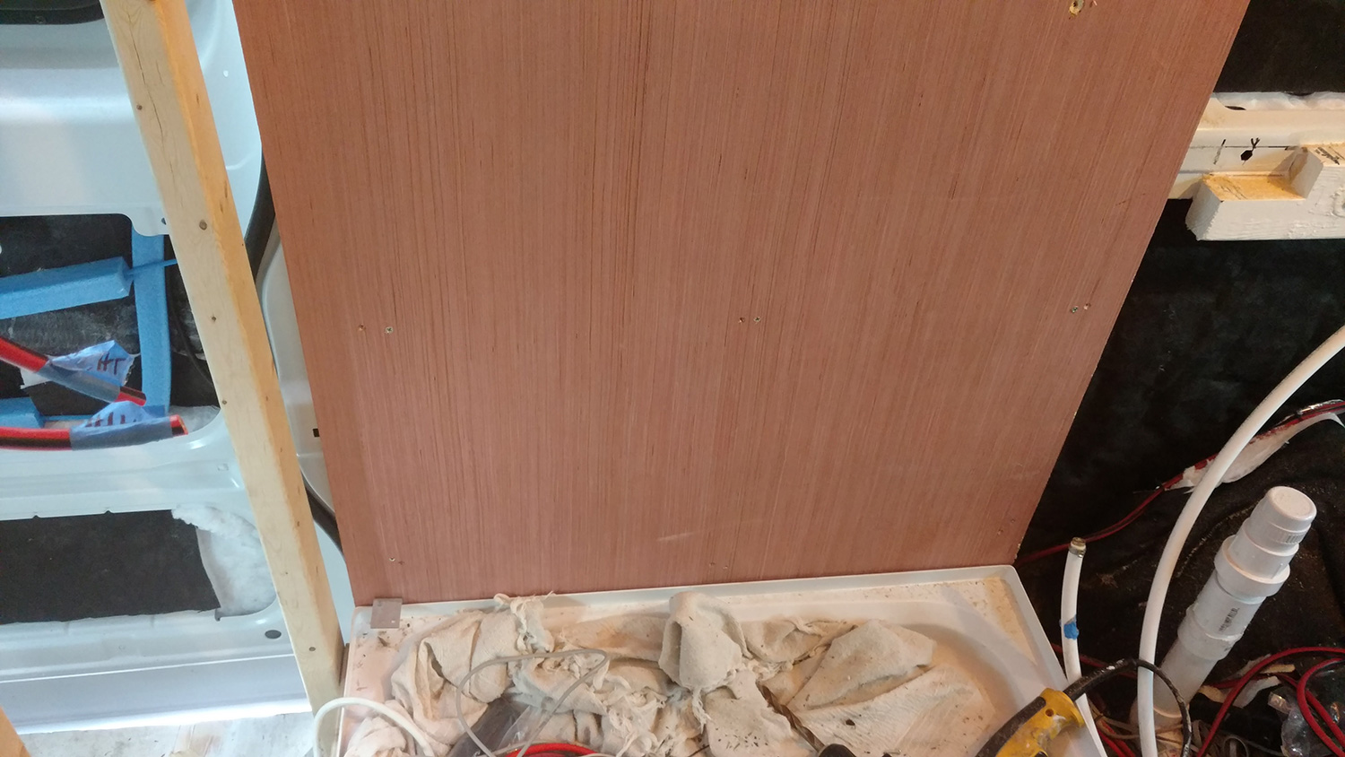 Building A Wet Bath And Shower Into Promaster Diy Camper Van Electrical Wiring Behind Wall Finishing Touches
