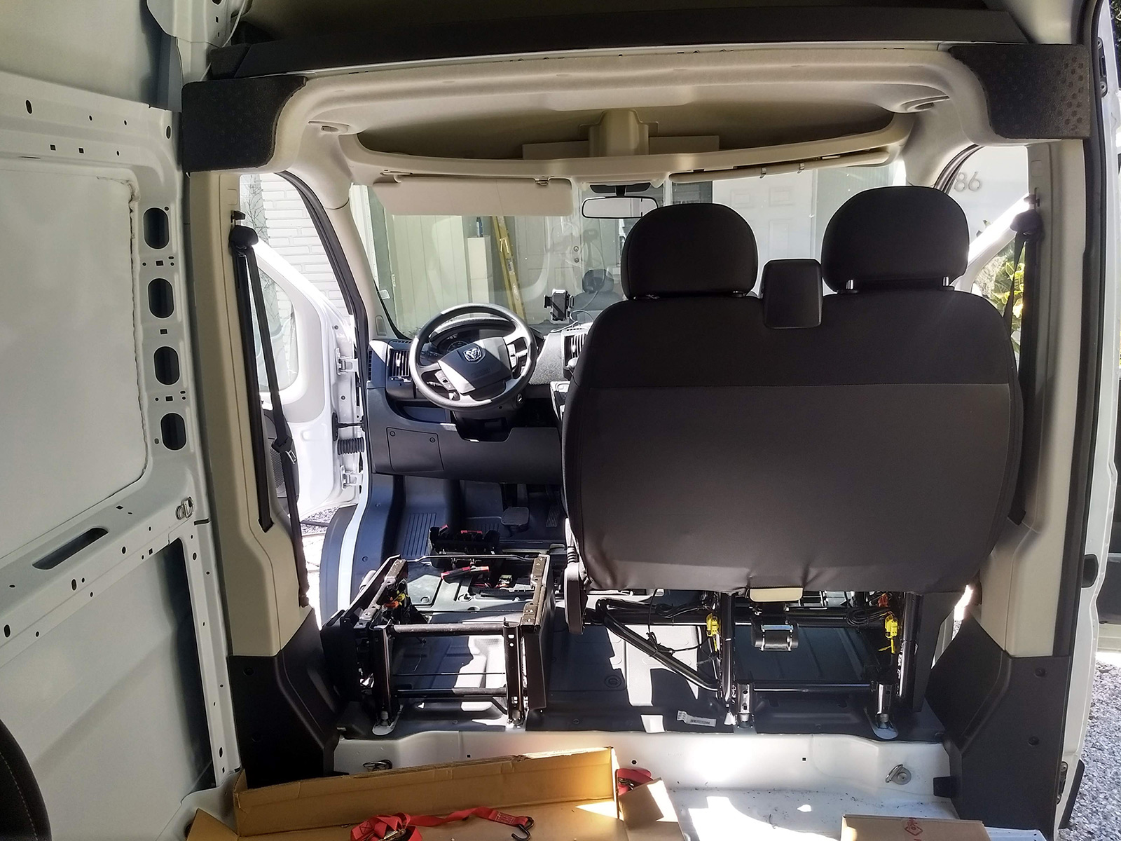 Swapping Out A Promaster Passenger Bench Seat For A Standard Swivel