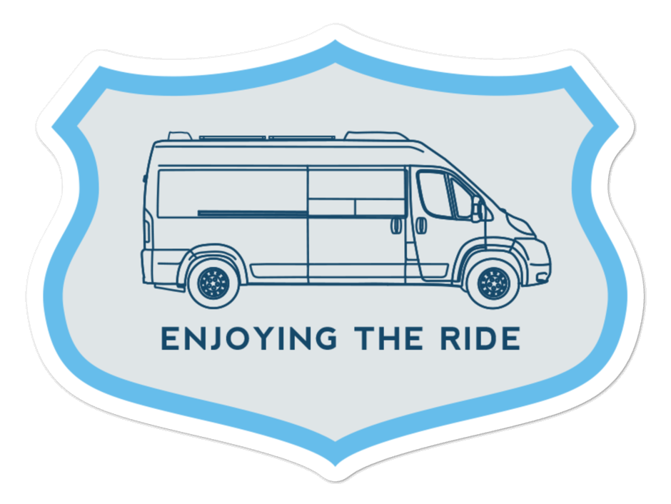 031 - Enjoying the Ride Sticker Mockup - Vanlife Outfitters